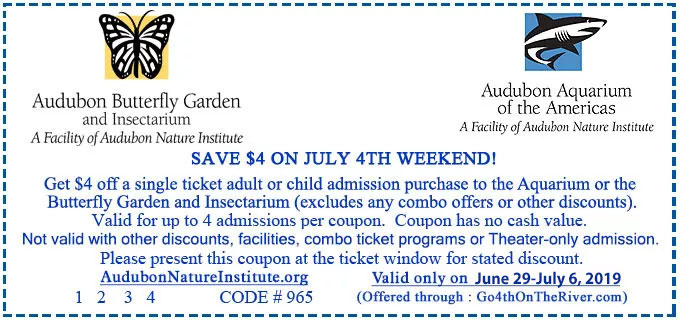 New Orleans Coupons >> Coupons Go 4th On The River